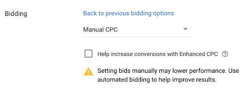 Manual CPC Bidding