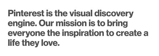Pinterest Mission Statement